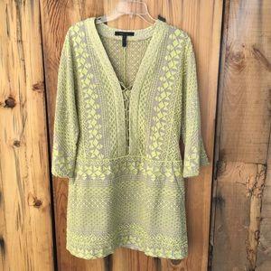 BCBGMAXAZRIA Milana Embroidered Dress Size Medium